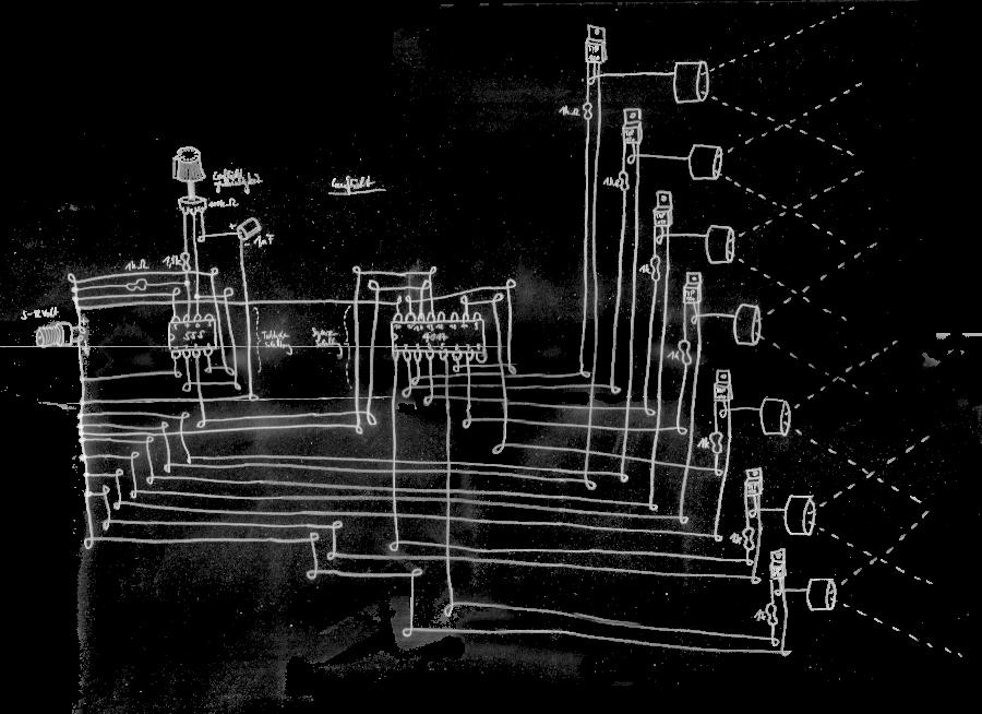 Strobolauflicht Circuit RaumZeitPiraten